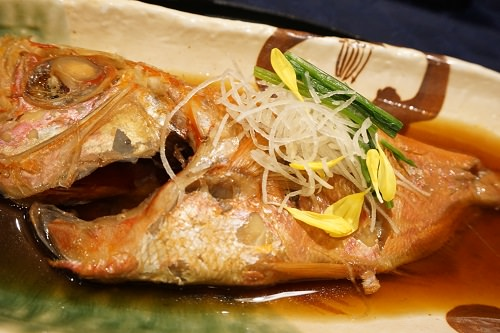 わんパラ夕食金目鯛