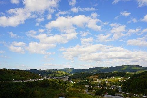 浜松SA高台景色