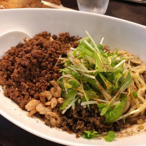阿吽 黒つゆ無し担々麺